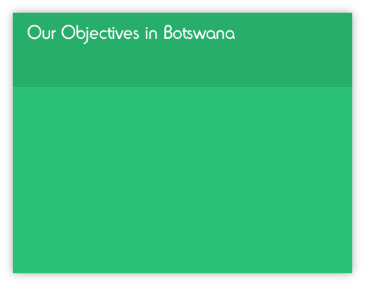 Our Objectives in Botswana